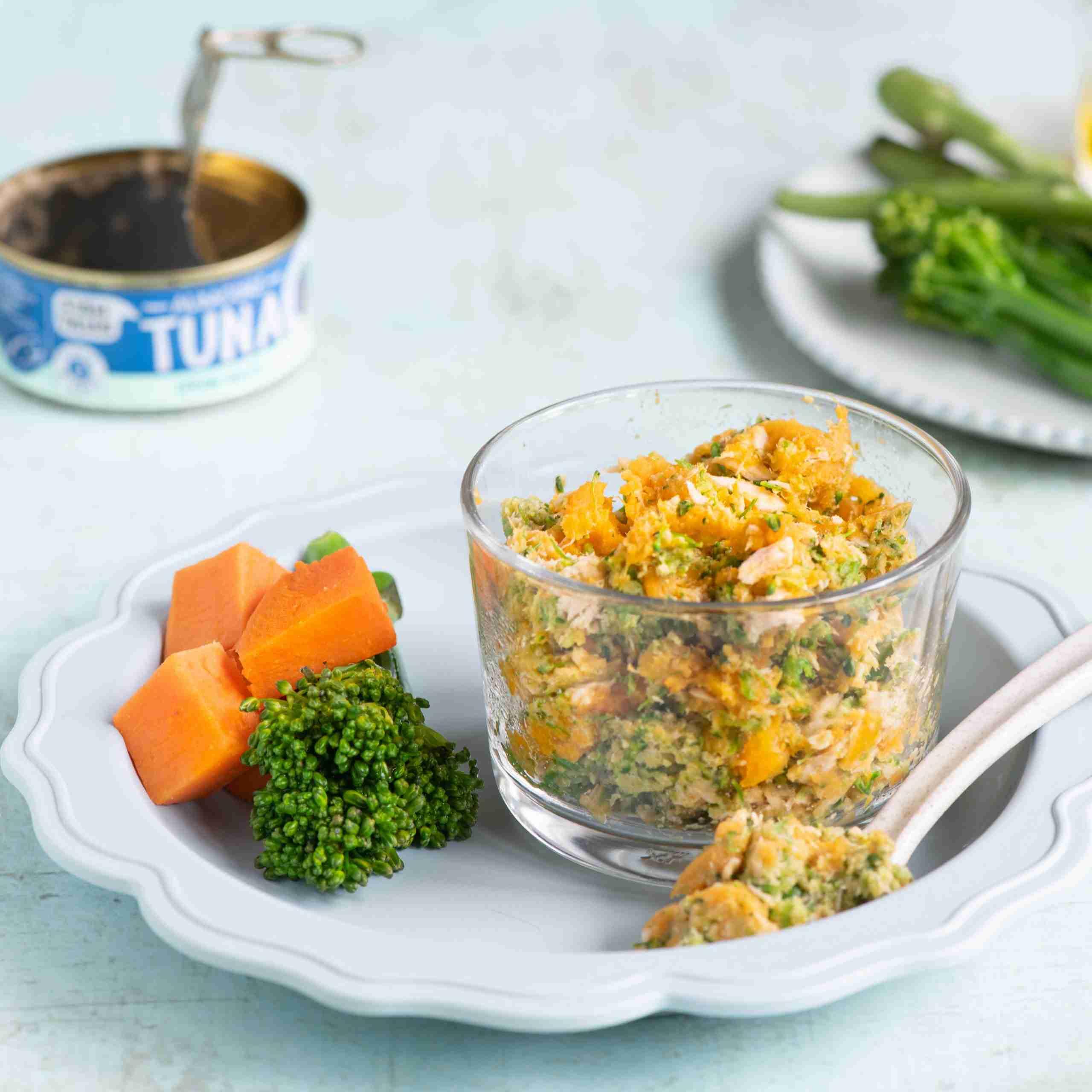 Tuna, Broccoli & Sweet Potato Mash Baby Food