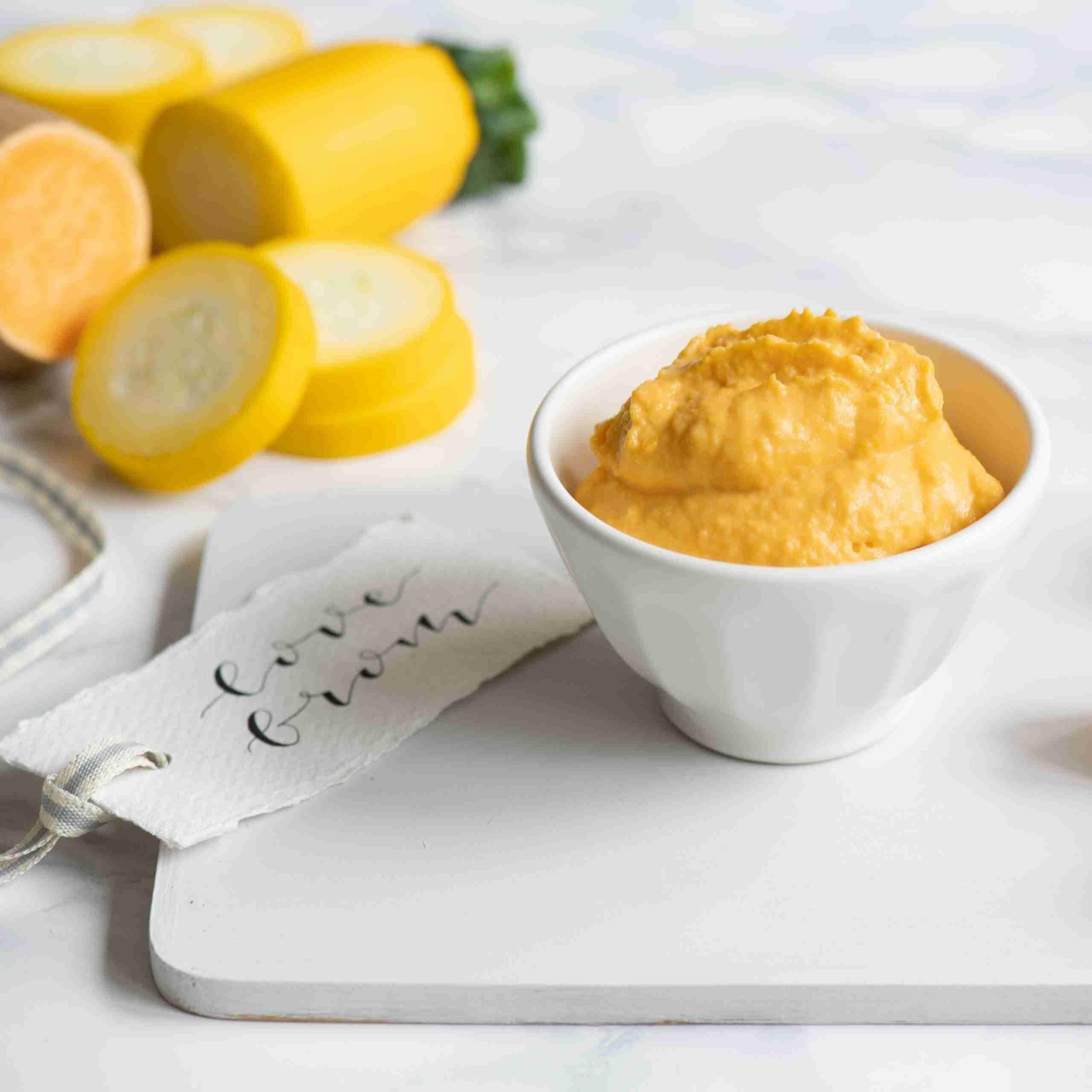Yellow Veggies and Cream Cheese Baby Food