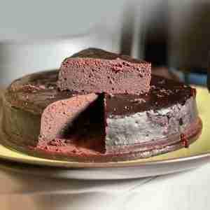 Vegan Air Fryer Chocolate Cake
