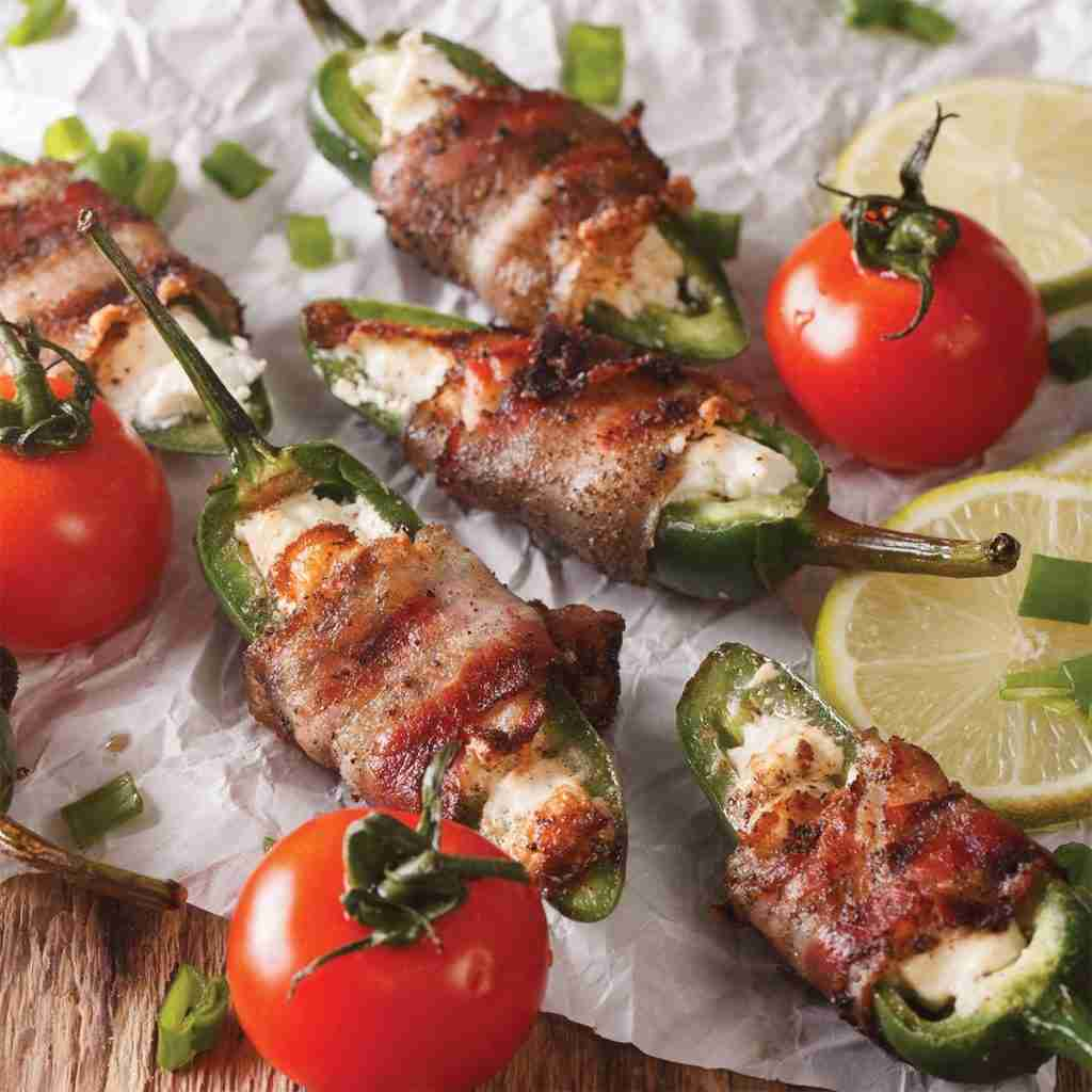 Bacon Wrapped Cheese Stuffed Jalapenos