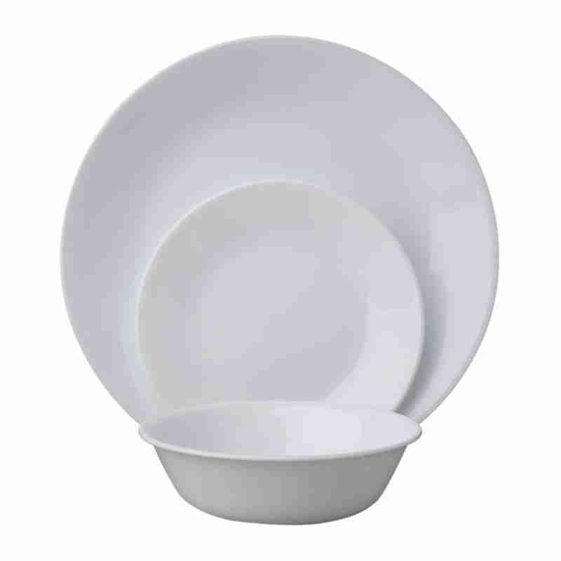 Corelle Vitrelle Winter Frost White Dinnerware Service for 6 18-Piece
