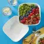 Corelle Vitrelle Pure White Square  2-Piece Bowl 1-Quart