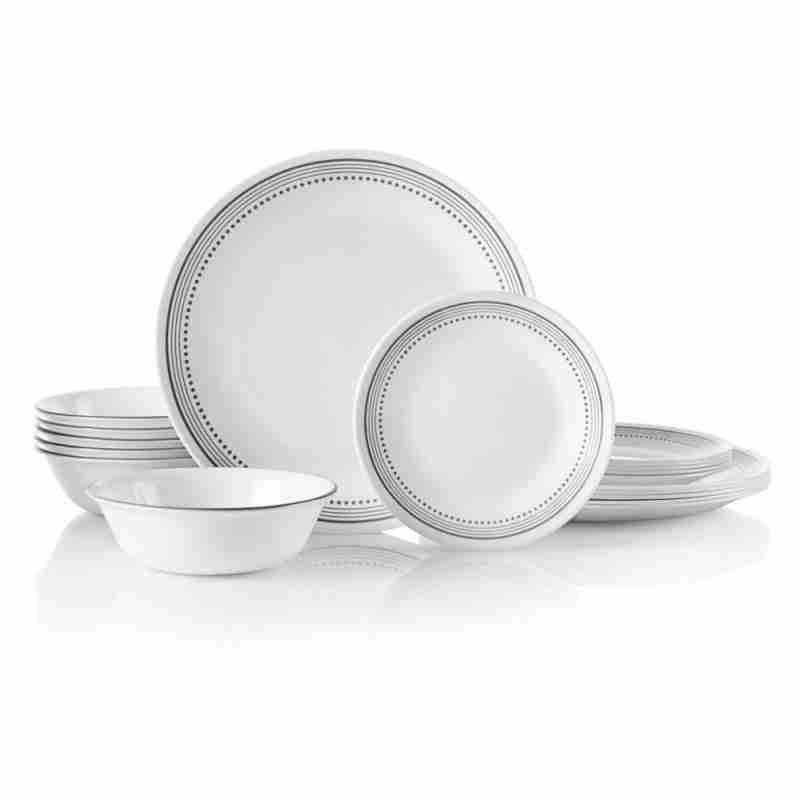 Corelle Vitrelle Mystic Gray Dinnerware  Service for 6 18-Piece