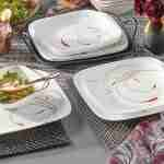 Corelle Vitrelle Splendor Square Dinner Plates 26cm 6-Piece