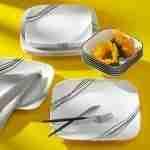 Corelle Vitrelle Simple Sketch Dinnerware Set 18-Piece