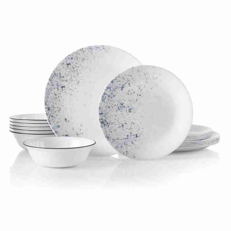 Corelle Vitrelle Indigo Speckle Dinnerware Set 18-Piece
