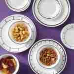 Corelle Vitrelle Black and White Dinnerware Set 18-Piece