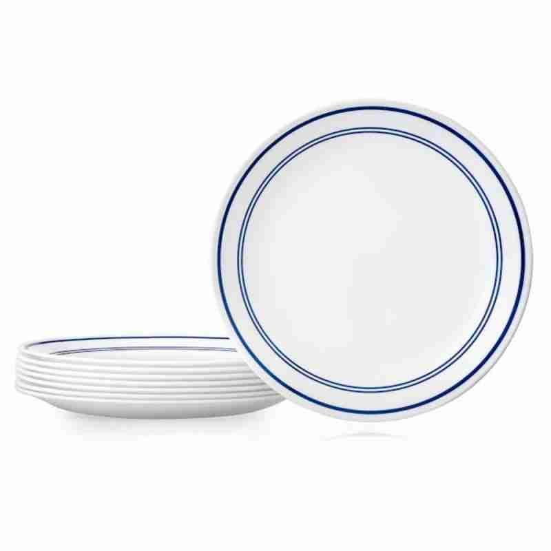 Corelle Vitrelle Classic Café Blue Dinner Plates 26cm 8-Piece