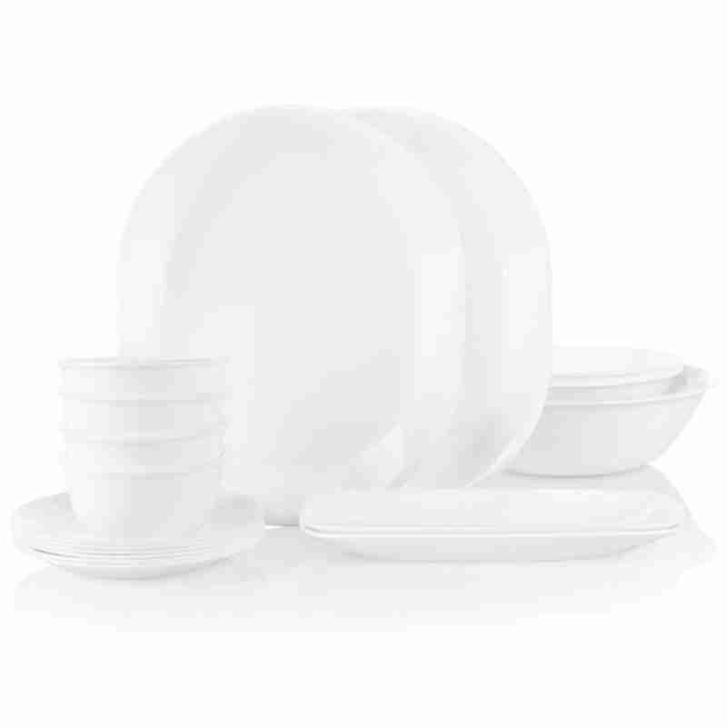 Corelle Vitrelle Party Pack Serving Bowls and Platters White 17-Piece
