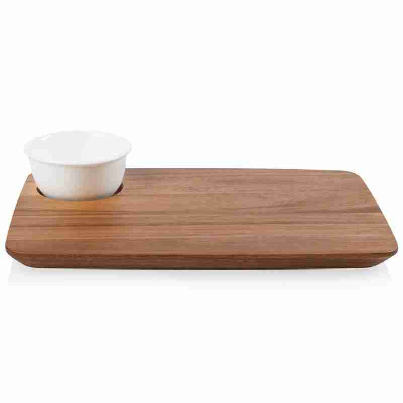 Corelle Vitrelle Coordinates Cheese Board with Bowl Serving  11oz