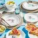 Corelle Vitrelle Disney Mickey Mouse Original Appetizer Plates 17cm 8-Piece