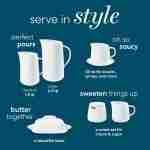 Corelle Porcelain Sugar and Creamer Set