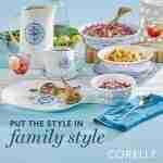 Corelle Vitrelle Portofino Coordinates Serving Bowls 1qt (0.95L) 2 Pack