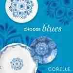 Corelle Vitrelle Lisbon Terrace Dinnerware  Service for 6 18-Piece