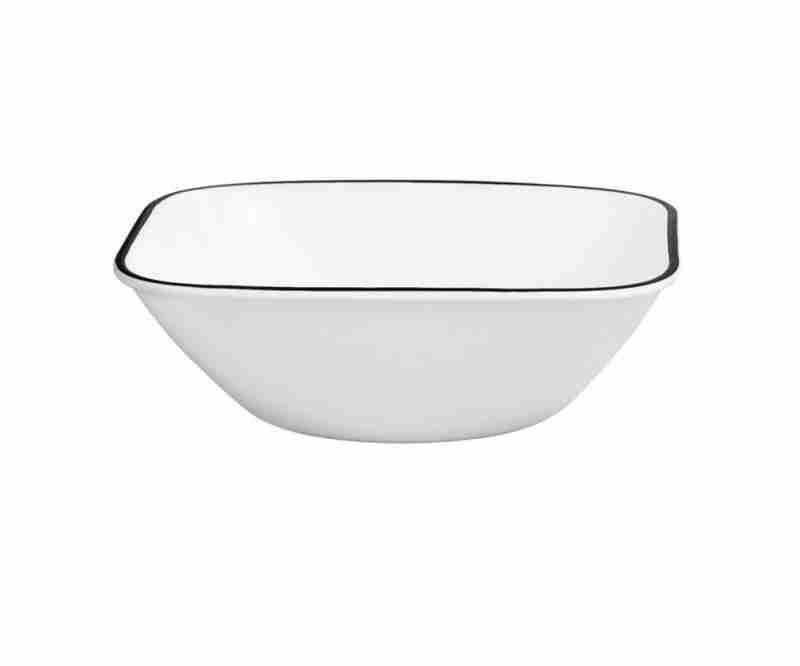 Corelle Vitrelle Simple Lines Square Bowl 22oz (650ml) 6-Piece