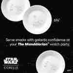 Corelle Vitrelle Star Wars Child Appetizer Plates 17cm 8-Piece