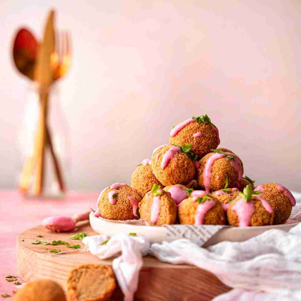 Chickpea and Aubergine Bites