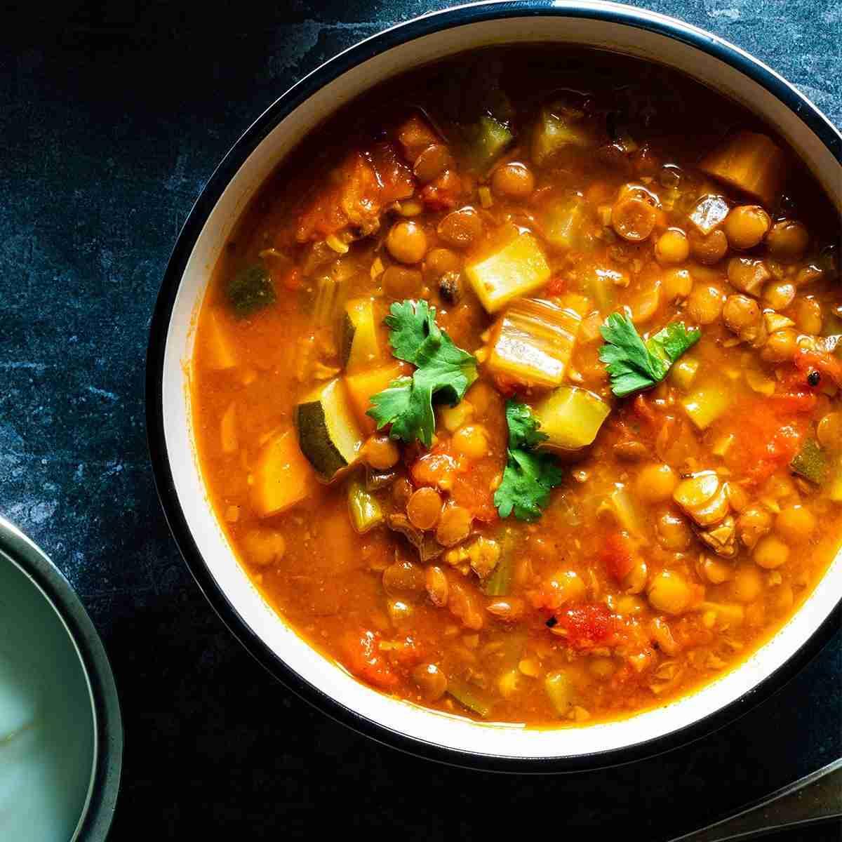 Moroccan Mushroom & Lentil Soup