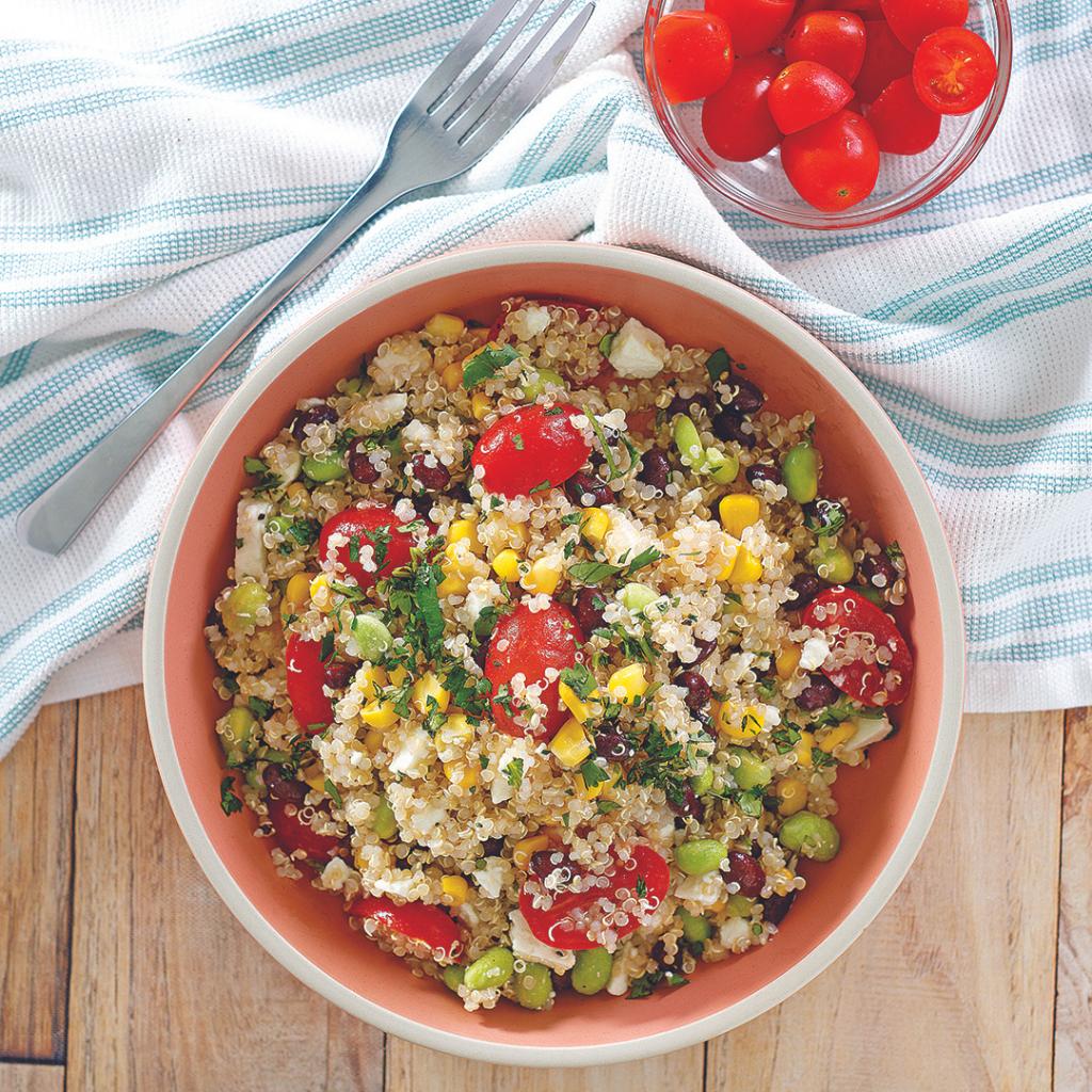 Quinoa and Corn Feta Salad